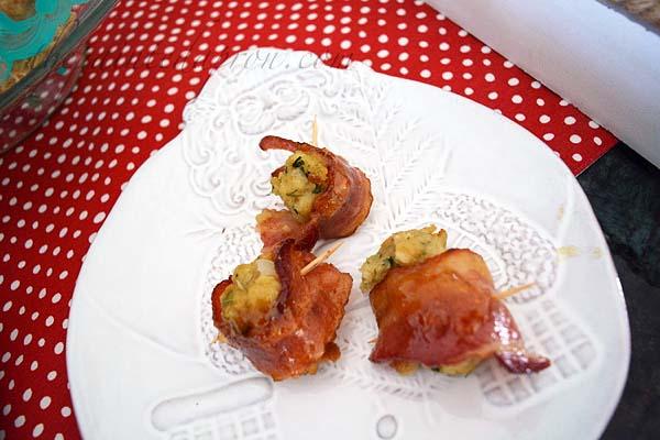 bacon-stuffing-balls-with-orange-glaze