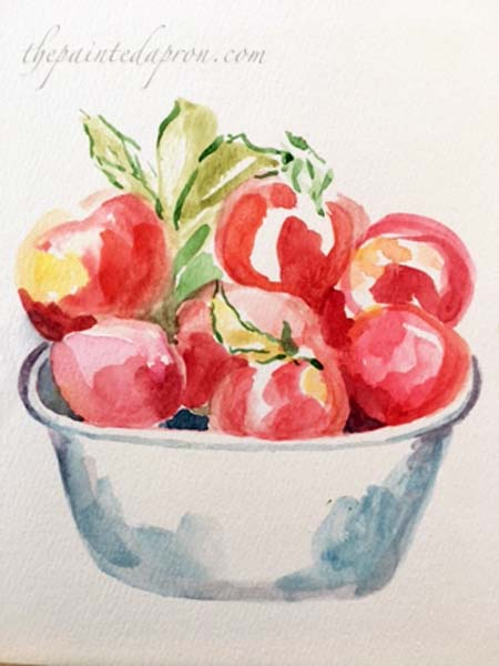 watercolor-apples