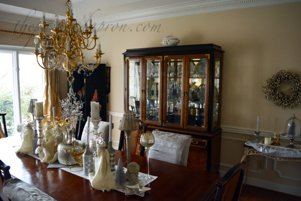 Gold And Silver Dining Room