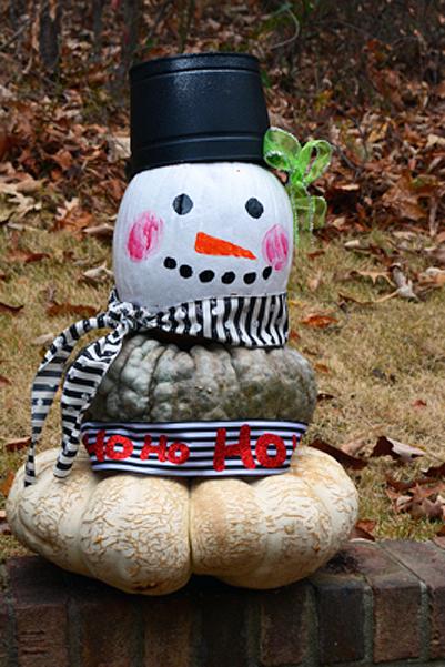 pumpkin-snowman