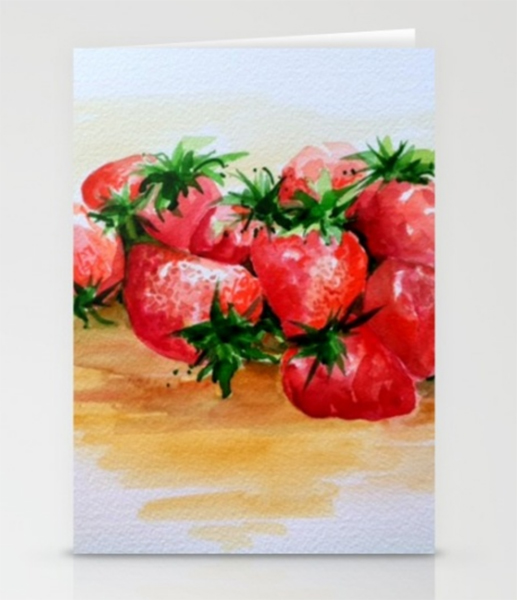 strawberry-notecards
