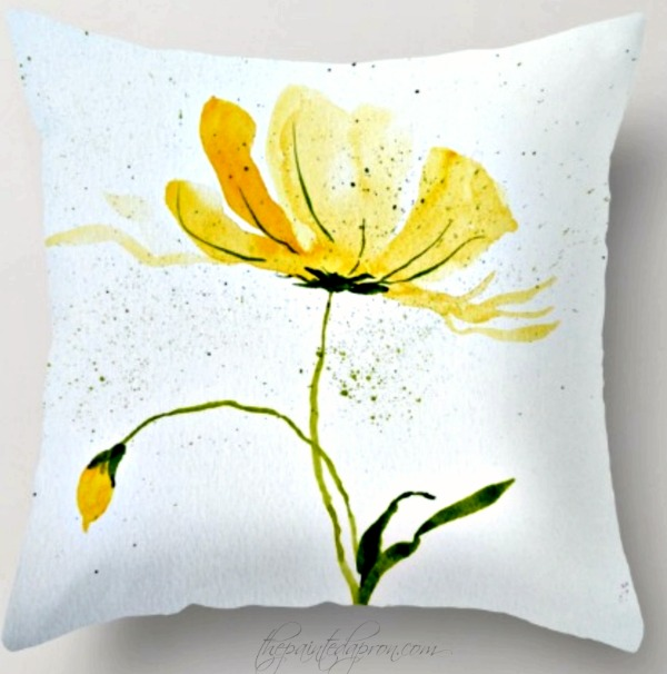 yellow-bloom-square-pillow