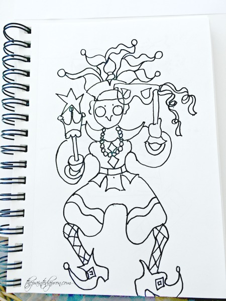 jester-ink-drawing