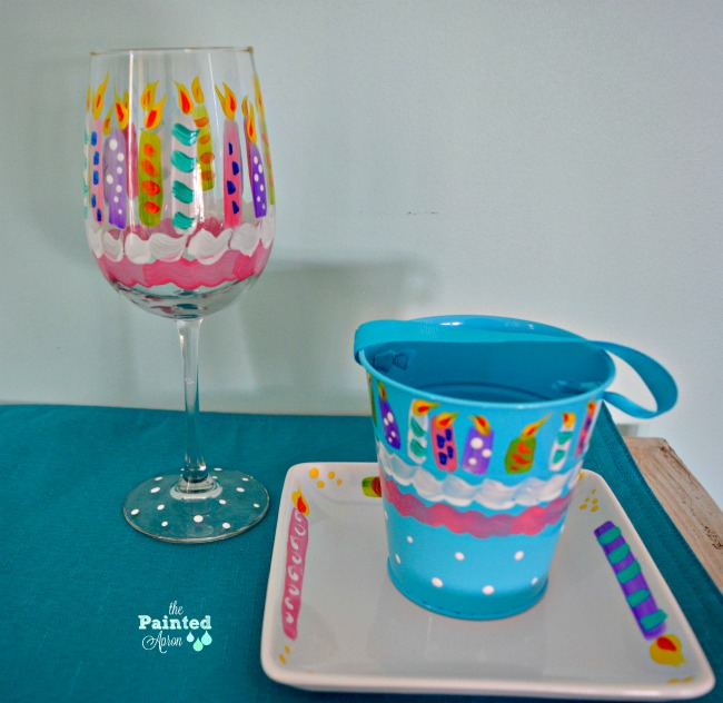 birthday candle painted pieces