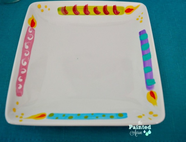 birthday candle plates