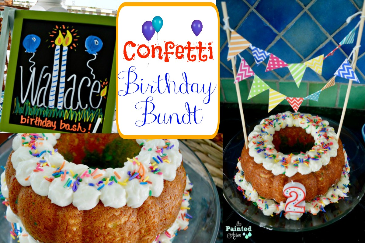 Surprising Party Panache Confetti Birthday Bundt The Painted Apron Personalised Birthday Cards Akebfashionlily Jamesorg