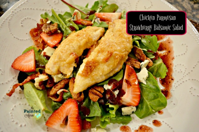 chicken parmesan strawberry balsamic salad