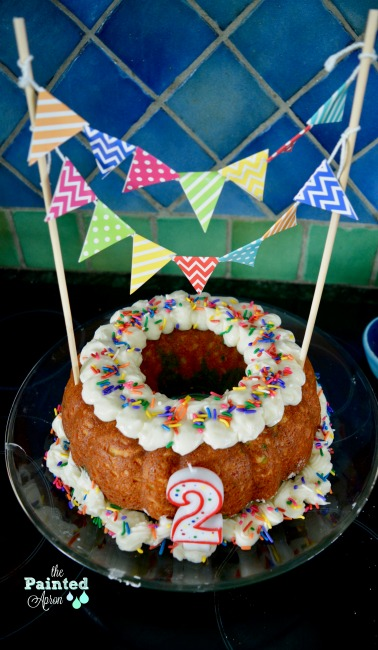 Pleasing Party Panache Confetti Birthday Bundt The Painted Apron Funny Birthday Cards Online Eattedamsfinfo