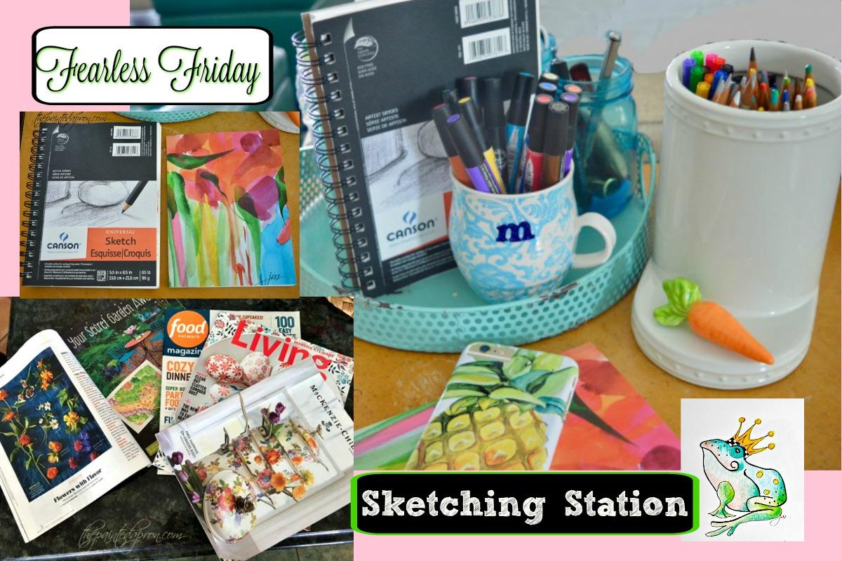 sketching station