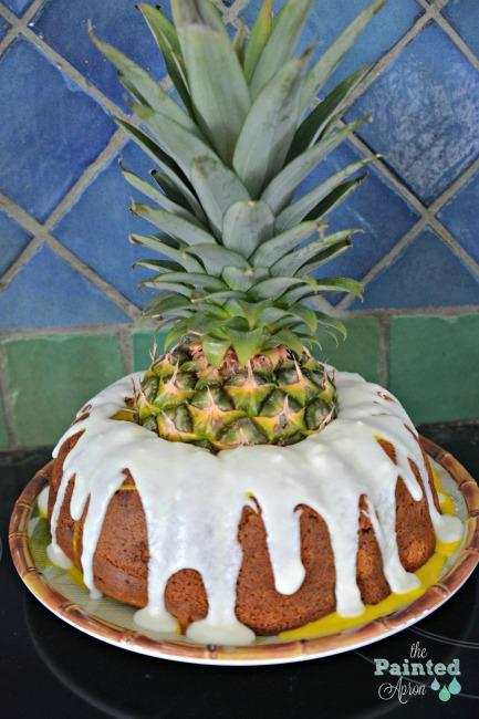 Pineapple volcano cake