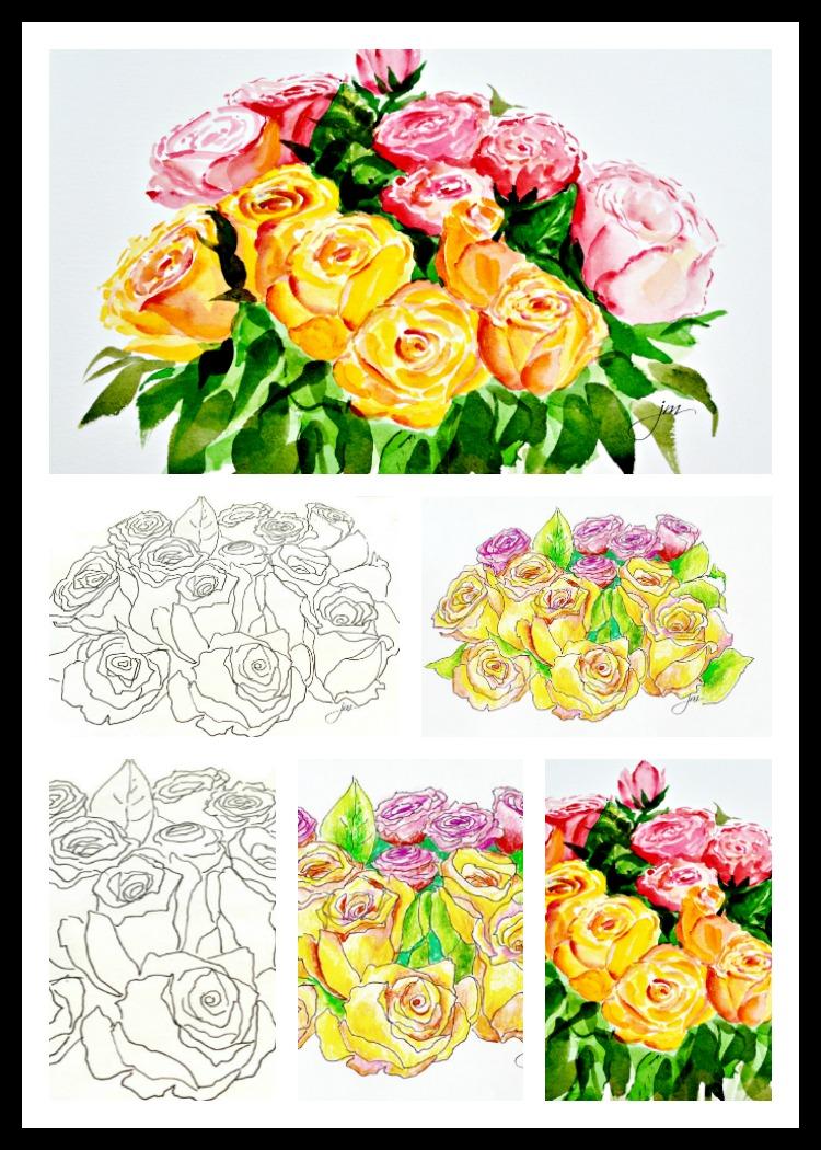 roses 3 ways