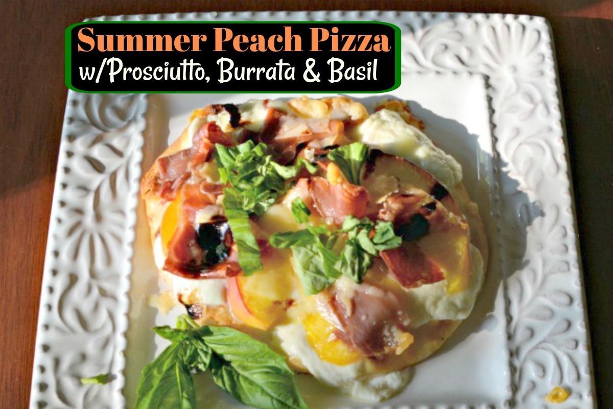 Peach, Basil, Mozzarella, & Balsamic Pizza Recipe — Dishmaps