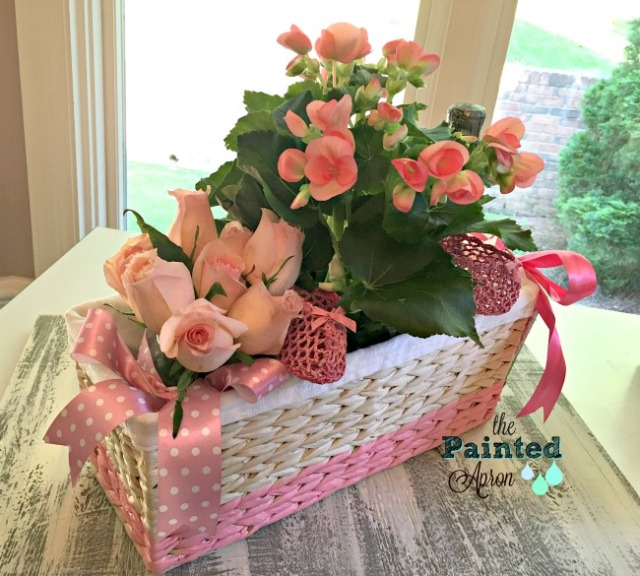 flower basket for baby shower