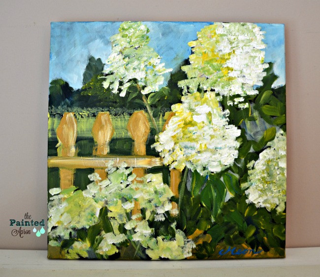 Pam's Hydrangeas, acrylic on canvas