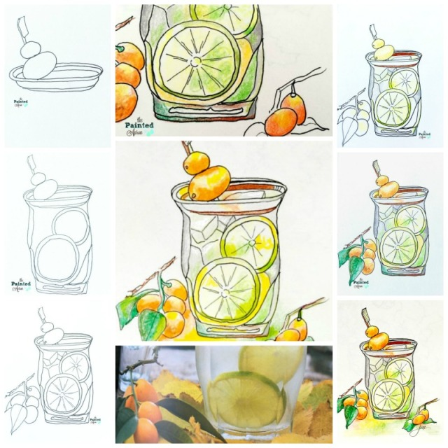 citrus tonic collage