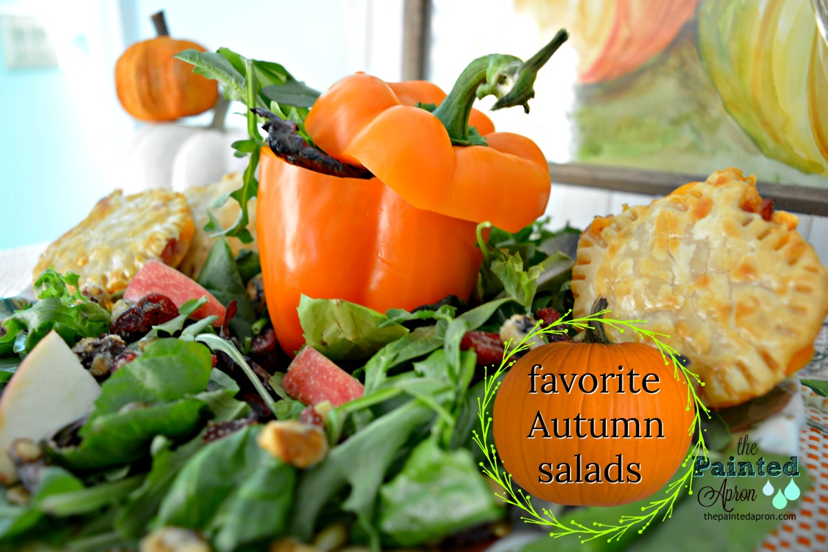 pumpkin patch salad with pumpkin pepper