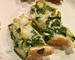 cheesy spinach & artichoke filled bread slices
