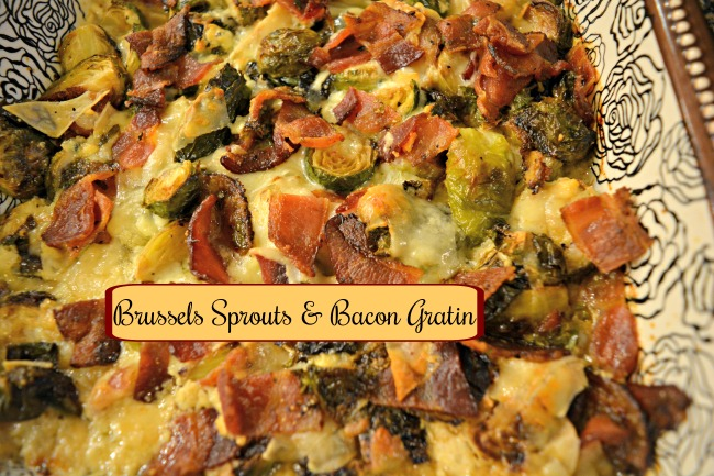 Brussels Sprouts & Bacon Gratin