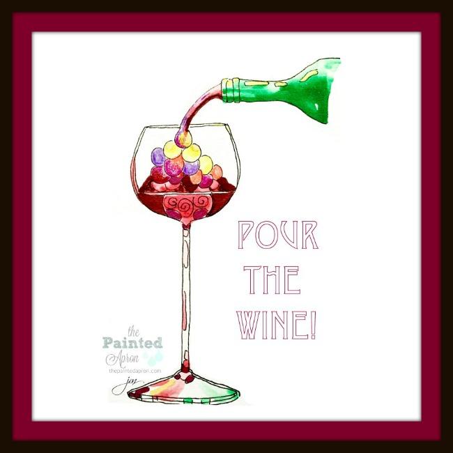 pour the wine 1