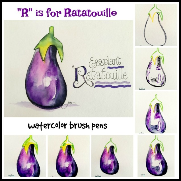 Ratatouille with watercolor brush pens
