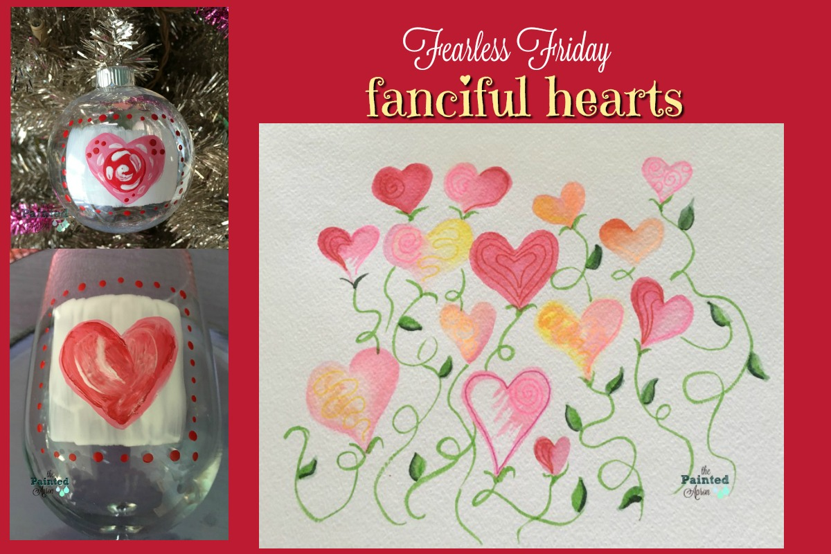fanciful hearts collage