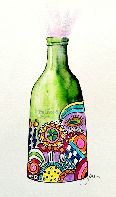 zentangle bottle