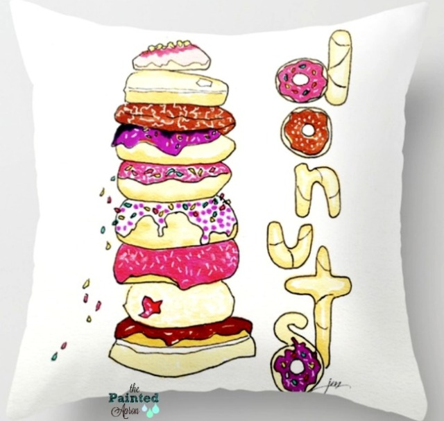donut shop pillow