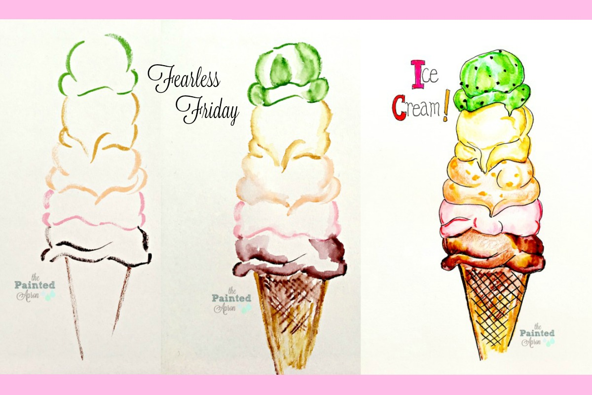 Fearless Friday, Ice Cream Cone | The Painted Apron