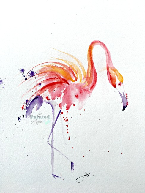 flaming flamingo