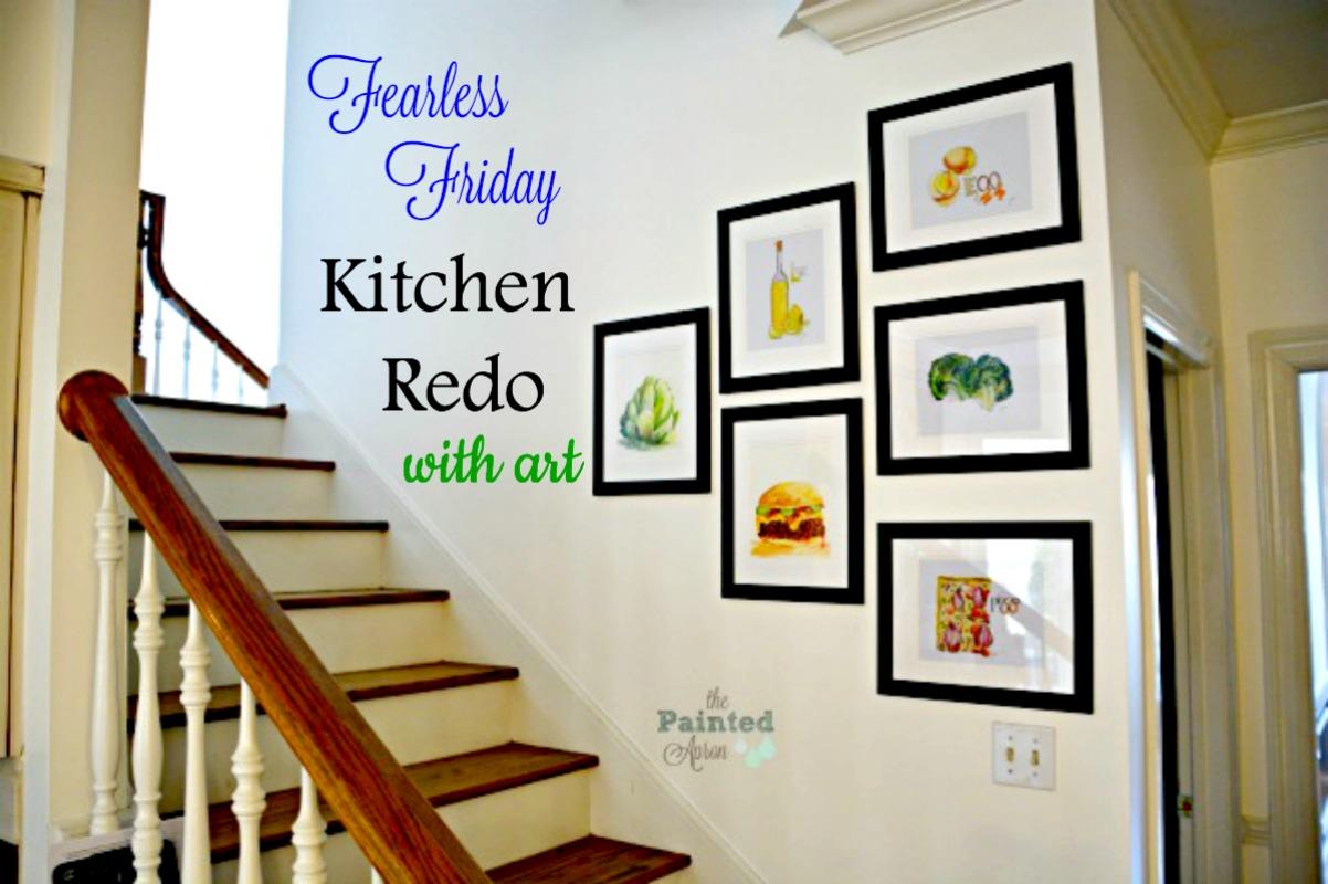 kitchen redo with art