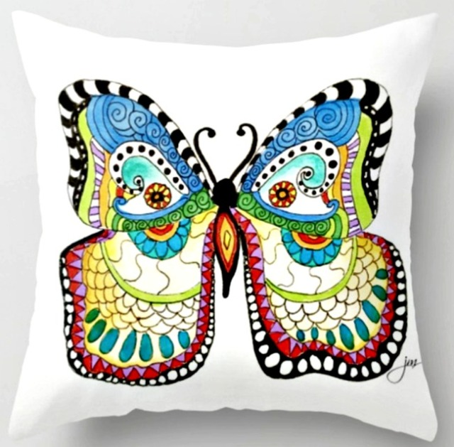 fairytale butterfly throw pillow