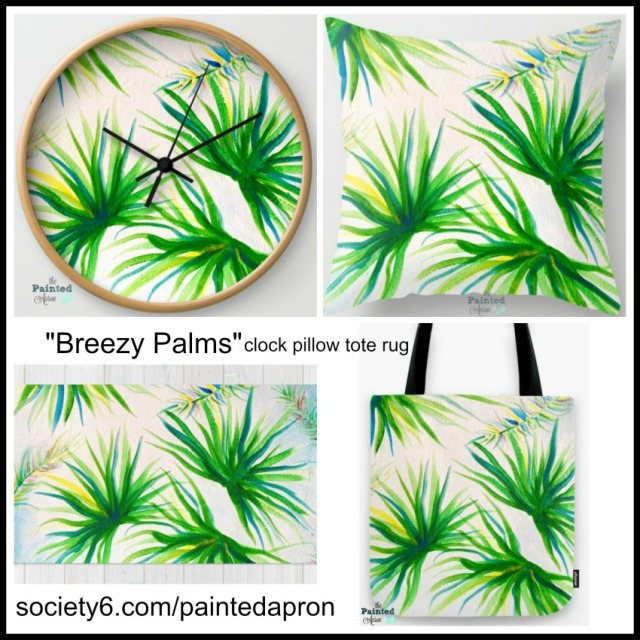 Breezy palms society6.compaintedapron