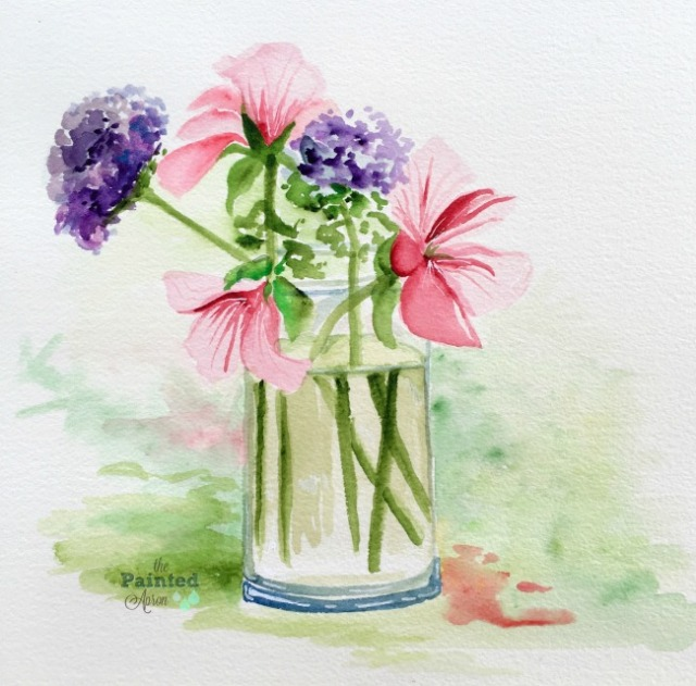 fearless friday simple things watercolor the painted apron