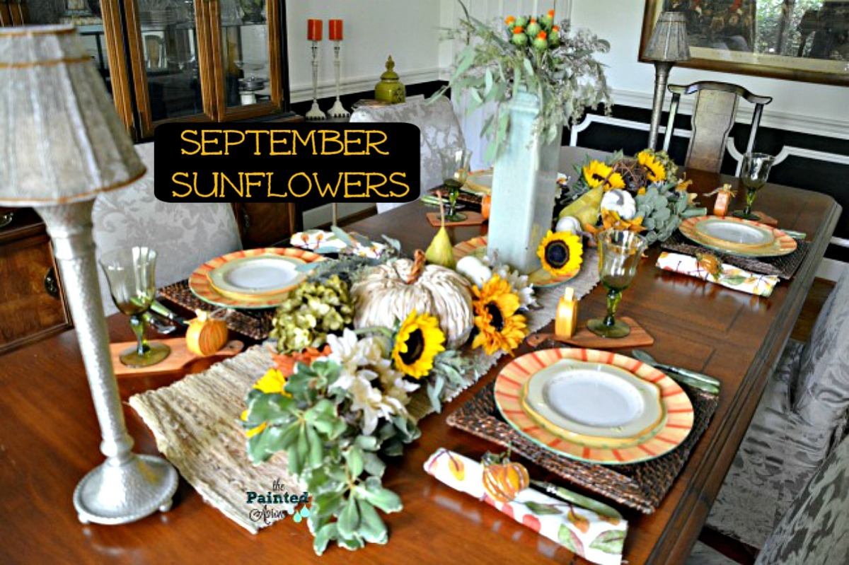 Tablescapes, September Sunflowers