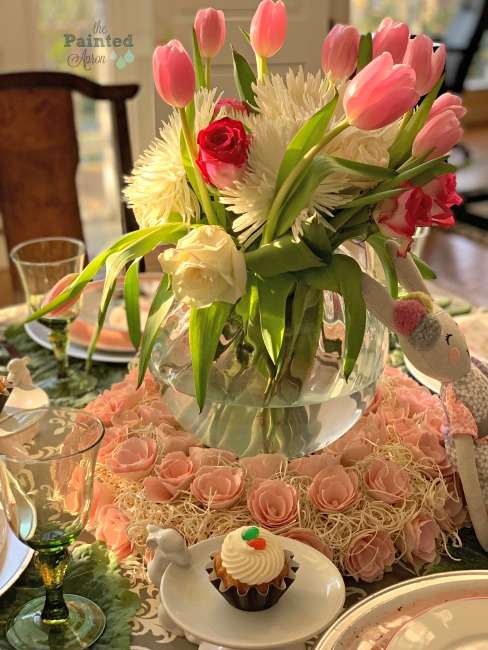 Blushing Bunny Easter Tablescape